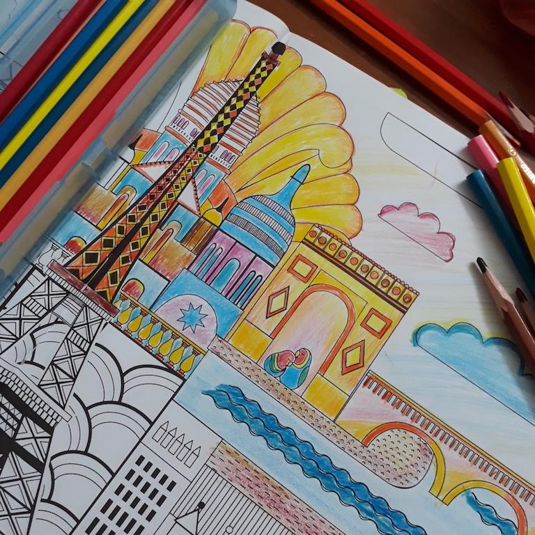 friend colouring